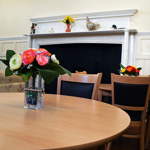 Howe Dell Manor Coach House Residential Care Dining Area